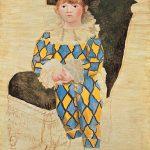 Picasso. Paul en Arlequin (Paolo vestito da Arlecchino), 1924. Olio su tela, cm 130 x 97,5