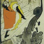 Toulouse-Lautrec. Jeane Avril al Jardin. 1893. Litografia a pennello e spruzzo in cinque colori su un foglio di carta di cotone, cm.128,7 x 93,9