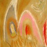 Jack Kerouac. Senza Titolo, N.D., olio su cartone, 29,5x21,5 cm