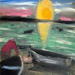 Jack Kerouac. Senza Titolo, N.D., olio su tela, 40x29,5 cm