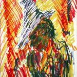Jack Kerouac. Senza Titolo, N.D., pennarello e inchiostro su carta, 20x12,5 cm