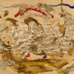 Jack Kerouac. Senza Titolo, N.D., tecnica mista su tela, 22,5x30 cm