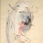 Jack Kerouac. Senza Titolo, N.D., tempera, china e colla su carta, 30,5x23 cm