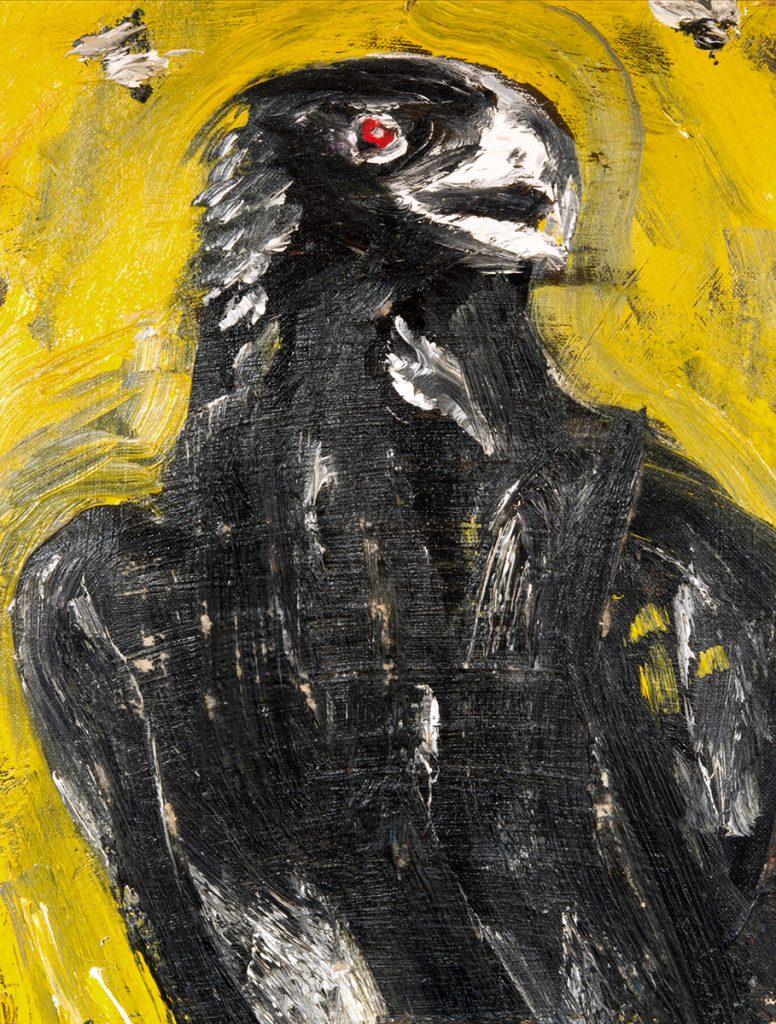 Jack Kerouac. Raven, N.D., olio su tela, 29x23 cm