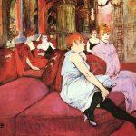 Toulouse-Lautrec. Al Salon di rue des Moulins. 1894. Pastello su carta, cm 111,5×132,5. Musée Toulouse-Lautrec, Albi, France