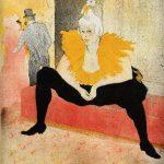 Toulouse-Lautrec. La clownesse assise. Mademoiselle Cha-U-Kao, 1896. Litografia, tavola 1 della serie Elles, Bibliothèque Nationale de France, Parigi
