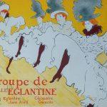Toulouse-Lautrec. Manifesto per la Compagnia di ballo di Mademoiselle Eglantine, 1896