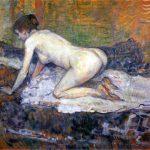 Toulouse-Lautrec. Donna nuda, 1897. Olio su cartone, cm 46,3x60. San Diego Museum of Art