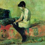 Toulouse-Lautrec. Etude de nu. Femme assise sur un divan, 1882. Olio su tela. Musée Toulouse-Lautrec, Albi, France